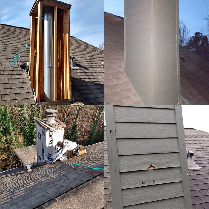 Residing and decking in chimney in Kennesaw