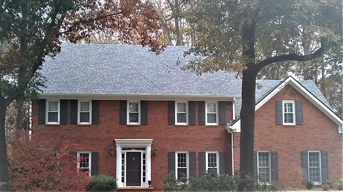 Finishes up this roof in Marietta Georgia