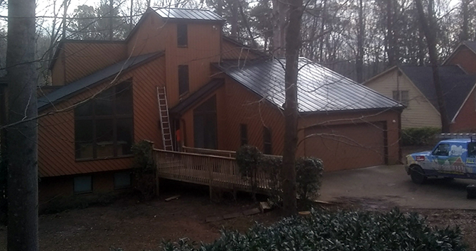 Final pictures after metal roof installation
