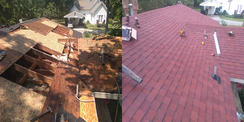 Asphalt shingle roof replacement in Acworth 30102