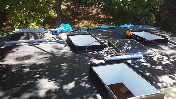 Self Adhered flat roof installation