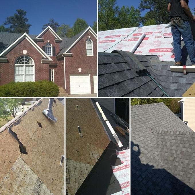 Major roof restoration in Woodstock Ga