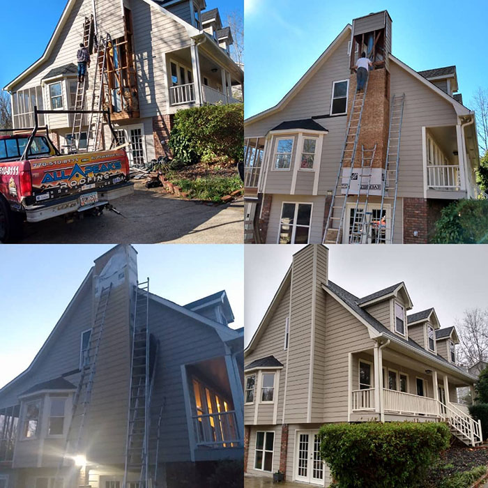 Chimney siding repairs in Woodstock Ga