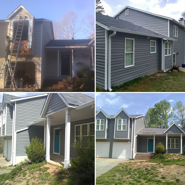 Beautiful vinyl siding installation by All Peaks Roofing
