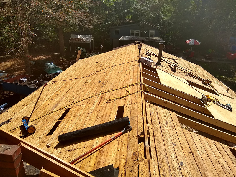 Starting roof replacement in Woodstock