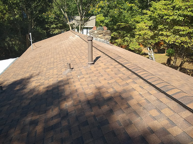 finished roof in Woodstock
